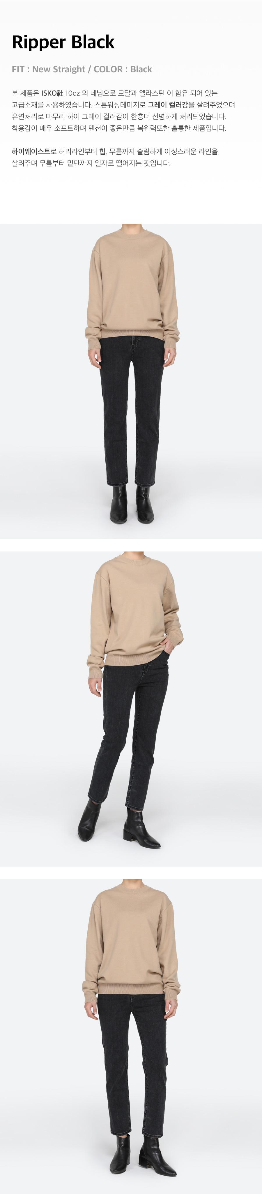 피스워커(PIECE WORKER) [W]Ripper Black / New Straight
